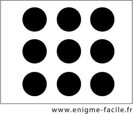 Relier les points enigme facile - Relier 9 points avec 3 traits ...