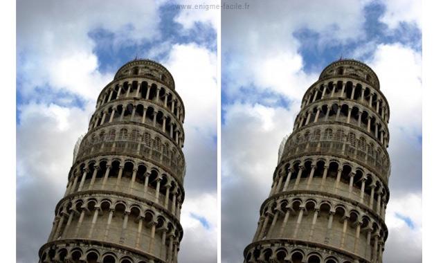 illusion optique la tour de pise