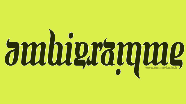 ambigramme exemples