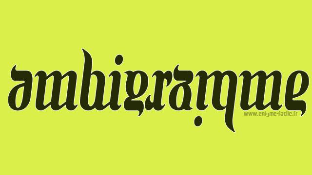 Quelques exemples d 39 ambigrammes enigme facile - Un mot qui se lit dans les deux sens ...