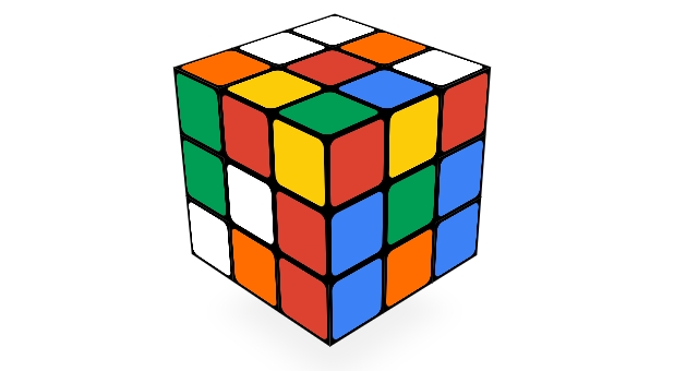 solution rubik's cube simple