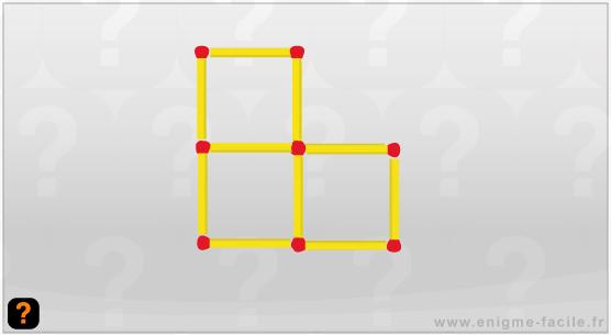 enigme allumette 3 carrés