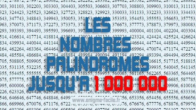 liste nombre palindrome