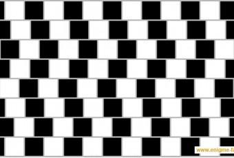 illusion d'optique carrés blancs et noirs