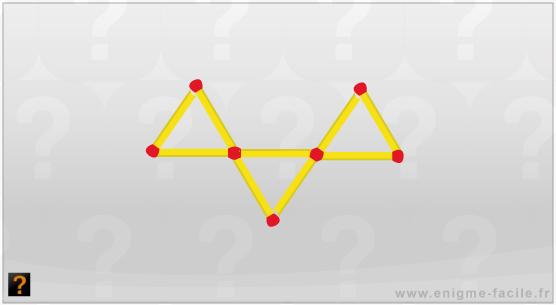 comment faire 5 triangles avec 9 allumettes