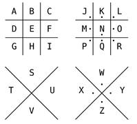 alphabet pigpen