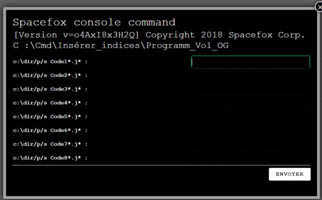 spacefox console command