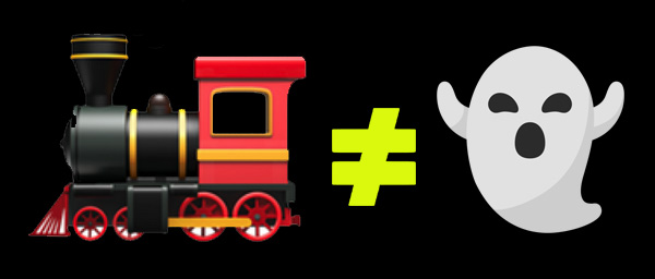 difference entre train et fantome