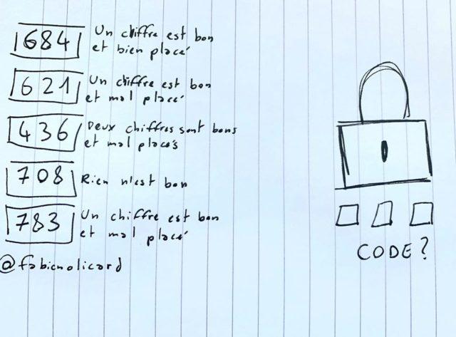 enigme cadenas fabien olicard code