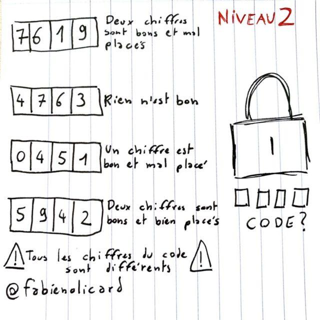 solution enigme olicard cadenas niveau 2