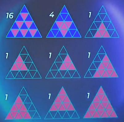 reponse nombre de triangles the circle game