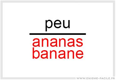 Dingbat peu ananas banane