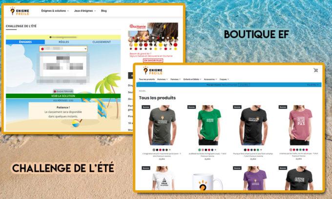Blog annonces challenge boutique
