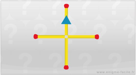 Allumette croix carre solution