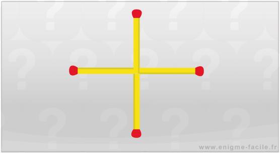 Allumette croix carre
