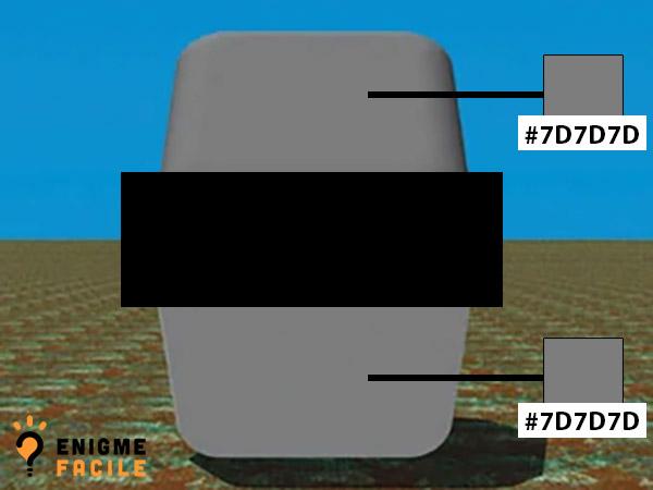 Solution illusion optique couleur bloc gris blanc