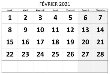 Mois parfait fevrier 2021